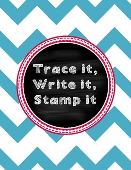 Trace it, Write it, Stamp it Spelling list word work - Reading street
