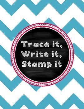 Trace it, Write it, Stamp it Spelling list word work - Rea