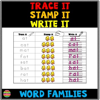 Trace it, Write it, Stamp it Word Families
