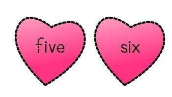 Trace letters&numbers.Handwriting practice about Valentine's center&worksheets