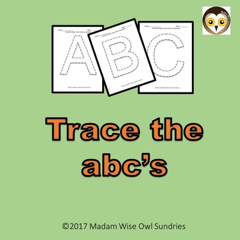 Trace the ABC's. Capital letters