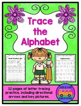 Trace the Alphabet - Handwriting