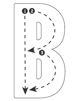 Drive the Alphabet Highway - Tracing Outlines - ROAD COLLECTION