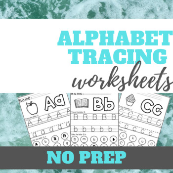 Trace the Alphabet & Letter Recognition Worksheets