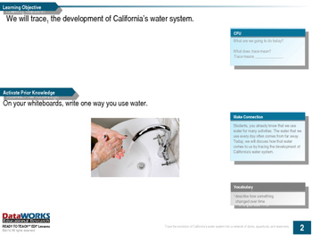 Trace the Development of California's Water System (EDI)