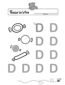 Spanish - Traza la letra (Trace the Letter)