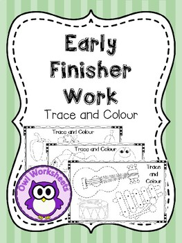 Early Finisher Work - Trace the Lines