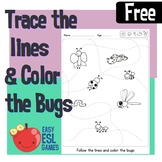 Trace the Lines to the Various Bugs - Easy ESL Games