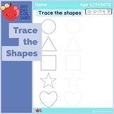Trace the  Shapes - Trace and Color the shapes