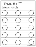 Trace the Shapes Tracing Worksheets. Preschool-KDG Math.