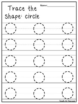 Trace the Shapes Tracing Worksheets. Preschool-KDG Math. by Teach At ...