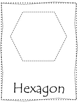 Trace the Shapes preschool worksheets