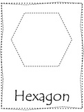 Trace the Shapes preschool worksheets.  13 shape tracing curriculum worksheets.