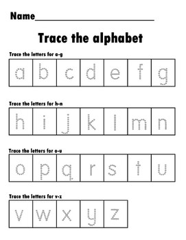 Trace the alphabet