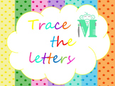 Trace the letters and numbers worksheet