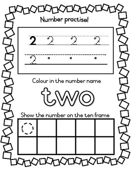 Trace the number and number names 1-10