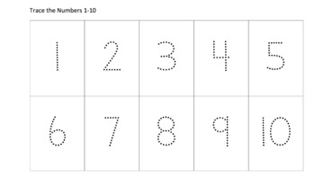 Trace the numbers 1-20