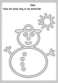 Trace the snowman