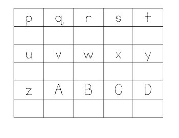 Trace then Write Alphabet Freebie