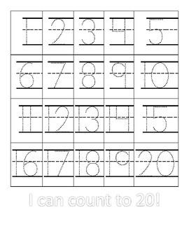 Trace to 20 Math Mat