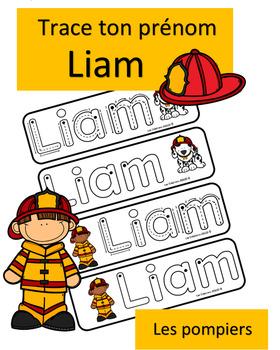 Trace ton prénom - Liam - pompiers