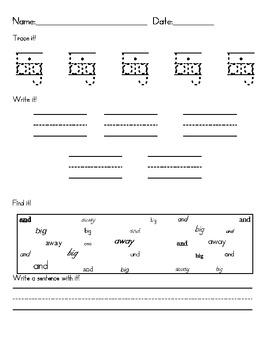 Trace, write, find pre-primer sample