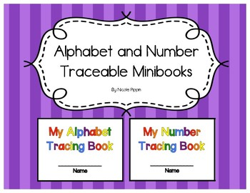 Traceable Alphabet and Numbers Minibooks
