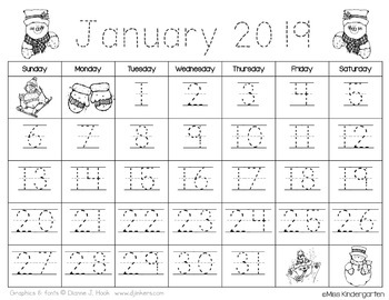 Updated 2018 2019 Traceable Amp Blank Monthly Calendar