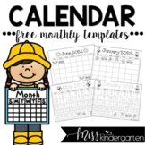 2018-2019 Traceable & Blank Monthly Calendar Templates {freebie}