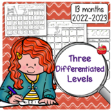Traceable & Blank Monthly Student Calendars: 3-sets for 2019-2020 [FREE UPDATES]