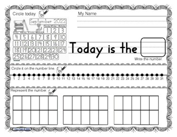 Blank & Traceable Calendars for Students FREE