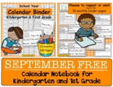 Calendar Binder - Math Skills for Students  FREE