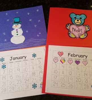 Traceable Calendar with Included Monthly Craft Activity