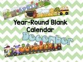 Free Blank Full Year Calendar