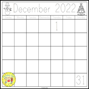 Traceable Calendars FREEBIE 2017 2018