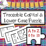 Traceable Capital & Lowercase Alphabet Puzzle (Numbers 0 to 10 Included!)