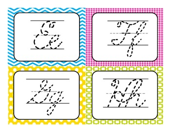 Traceable Cursive Writing Practice Cards