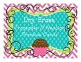 Traceable D'Nealian Handwriting Practice Cards