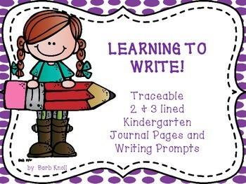 Traceable Journal Prompts for K and 1st
