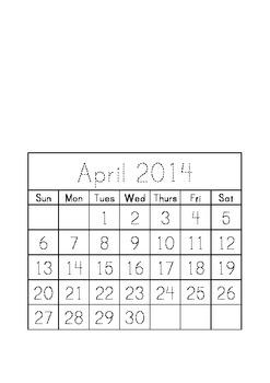 Traceable Monthly Calendar June 2013 - June 2014