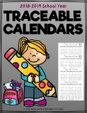 Traceable Monthly Calendars