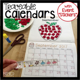 "Traceable Monthly Student Calendars: with EVENT ""STICKERS"""