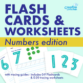 Number Flashcards with Tracing Numbers 0-10 and practice w