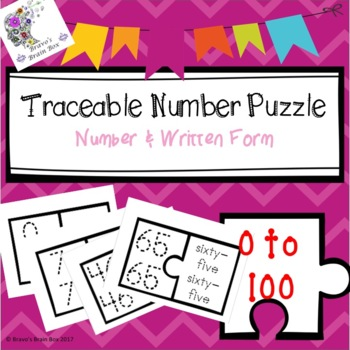 Traceable Numbers Puzzle: Number & Written Form