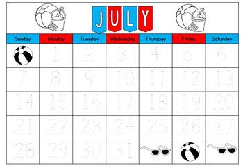 Traceable Perpetual Gregorian Calendar Templates