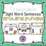 Traceable Sight Word Sentences Bundle
