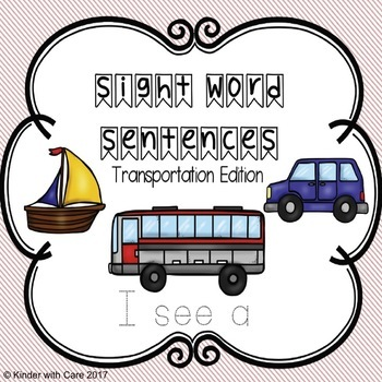 Traceable Sight Word Sentences - Transportation Edition