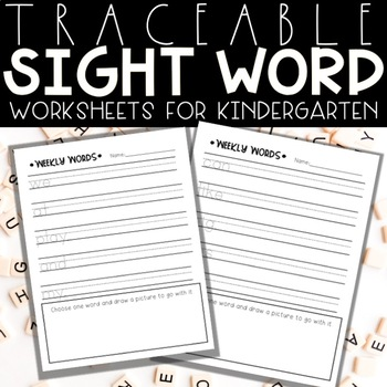 Traceable Weekly Sight Words