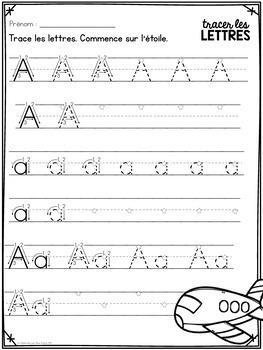 tracer les lettres french alphabet tracing practice tpt. Black Bedroom Furniture Sets. Home Design Ideas