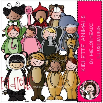 Kidlette animals clip art - COMBO PACK- by Melonheadz